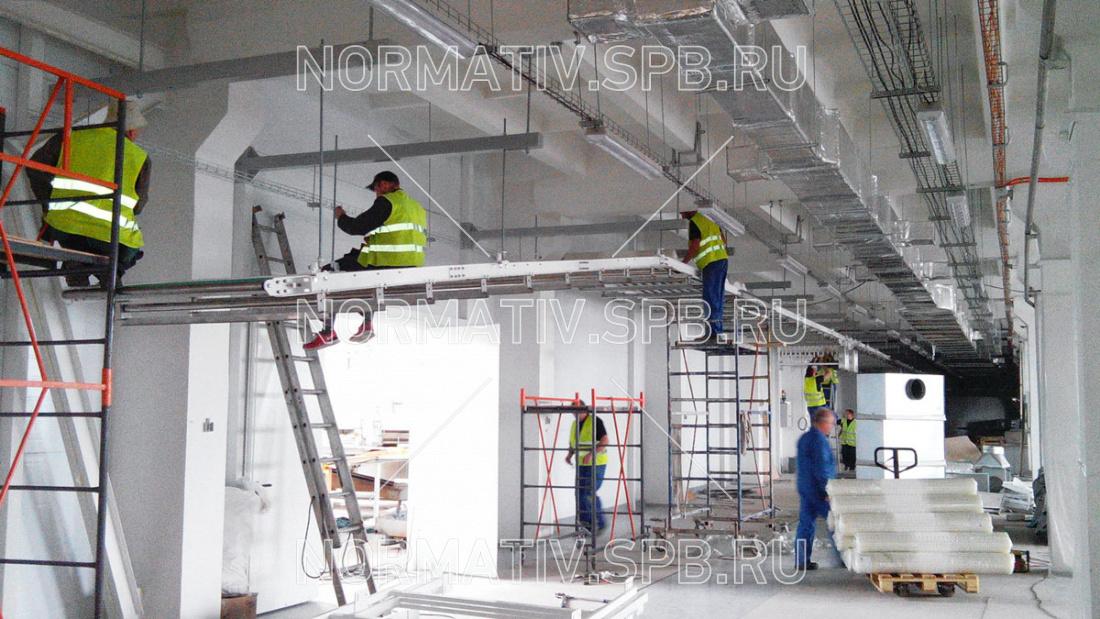 Монтаж подвесного конвейерного оборудования ООО Норматив